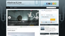 AbstractLine Blogger Template