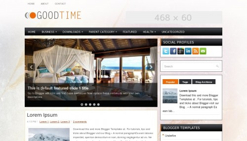 Template Blogger Good Time