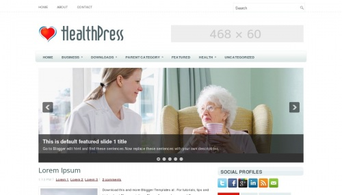 Template Blogger Health Press