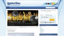 LightenBlue Blogger Template