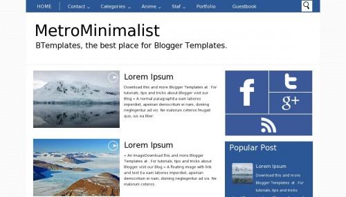 Template blogger MetroMinimalist