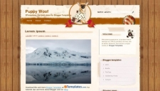 Puppy Woof Blogger Template