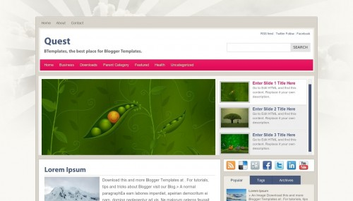 Template blogspot Quest