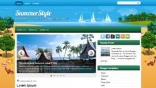 SummerStyle Blogger Template