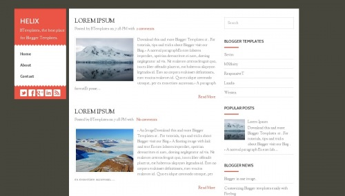 Helix Blogger template - BTemplates