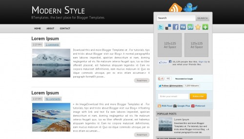Image result for modern blog template