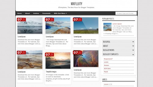 MXfluity Blogger template - BTemplates