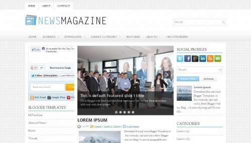 Template blogger News Magazine