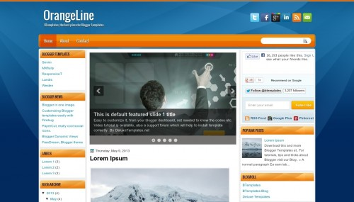 OrangeLine Blogger template - BTemplates