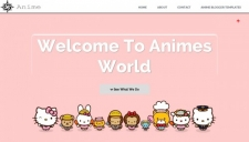 Anime Clean Blogger Template