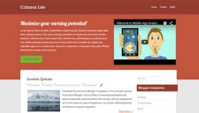 Crimson Lite Blogger Template