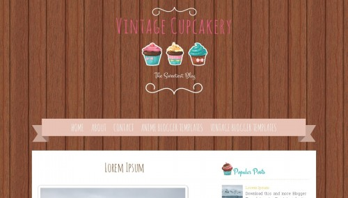 Vintage Cupcakery Blogger Template Btemplates