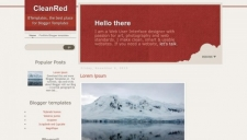 CleanRed Blogger Template
