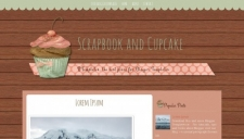 Scrapbook and Cupcake