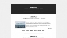 Zenzero Blogger Template