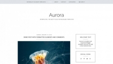 Aurora Blogger Template