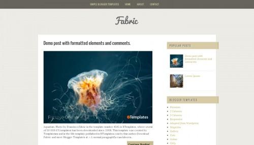 Fabric Blogger template - BTemplates