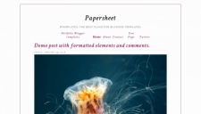 Papersheet Blogger Template