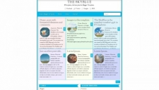 The SkyBlue Blogger Template