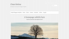 Clean Retina Blogger Template