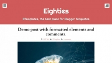 Eighties Blogger Template