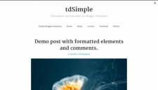 tdSimple Blogger Template
