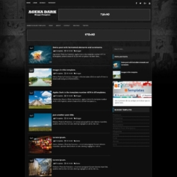Ageka Dark Blogger Template