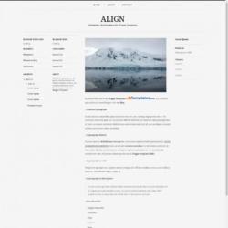 Align Blogger Template