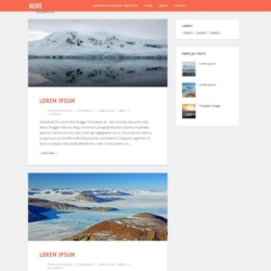 Alive Blogger Template