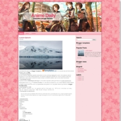 Anime Daily Blogger Template