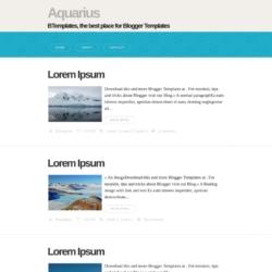 Aquarius Blogger Template