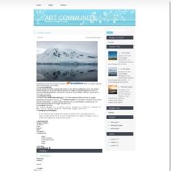 Art Community Blogger Template