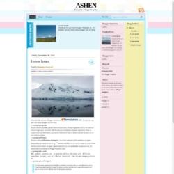 Ashen Blogger Template