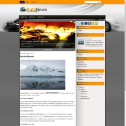 AutoNews Blogger Template