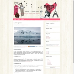 Baby cannot you see Blogger Template