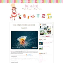 Baking Blog Blogger Template
