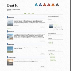 Beat It Blogger Template