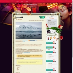 Beauty of Beautie Blogger Template