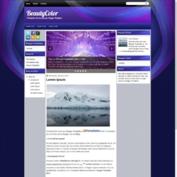 BeautyColor Blogger Template