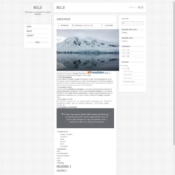 Bello Blogger Template