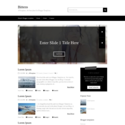Bittero Blogger Template