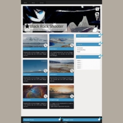 Black Rock Shooter Blogger Template