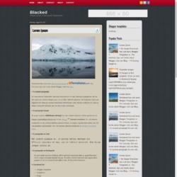 Blacked Blogger Template