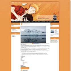 Bleach Blogger Template