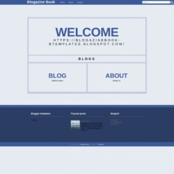 Blogazine Book Blogger Template