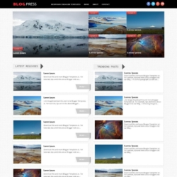 BlogPress Responsive Blogger Template