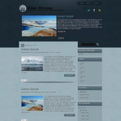 Blue Dream Blogger Template