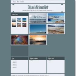 Blue Minimalist Blogger Template