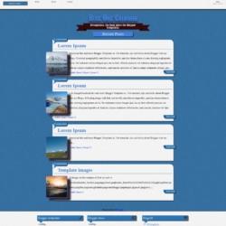 Blue One Coloumn Blogger Template