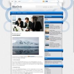 BlueCircle Blogger Template